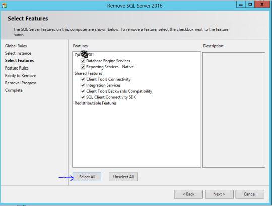 Steps to remove SQL Server 2016 Instance | SQL Server World